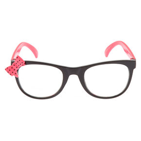 751257b9ec7 Claire's Club Polka Dot Bow Frames - Pink