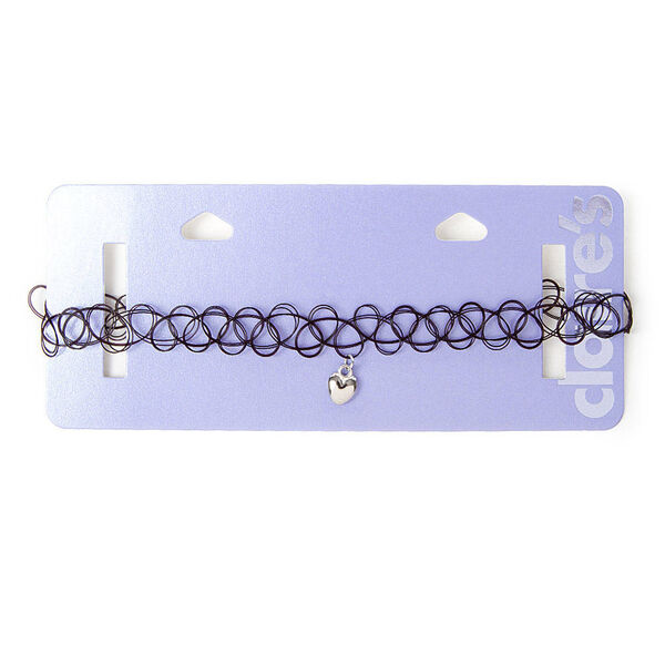 Claire's - heart charm tattoo choker necklace - 2