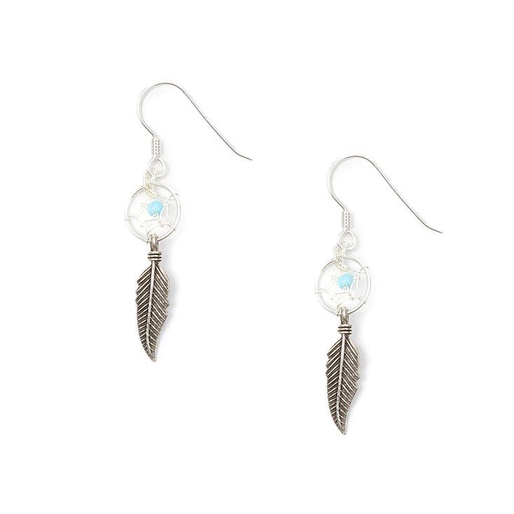 Sterling Silver Dream Catcher Drop Earrings,