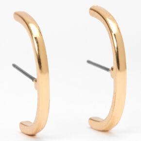 Gold Hook Stud Earrings,