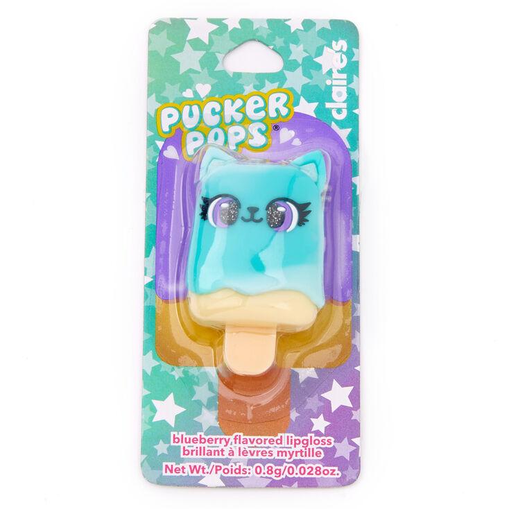 Pucker Pops® Blue Cat Lip Gloss - Blueberry,