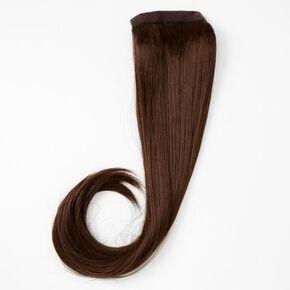 Faux Straight Hair Ponytail Wrap - Dark Brown,