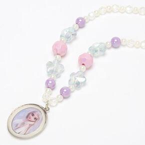 Collier à pendentif médaillon Elsa La Reine des Neiges2 ©Disney,