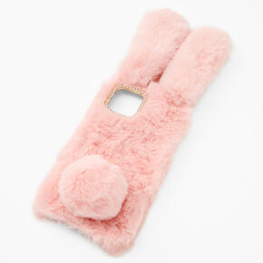 Furry Pink Bunny Phone Case - Fits iPhone 12 Pro Max,