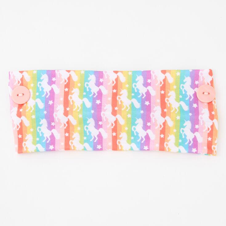 Rainbow Unicorn Button Headwrap,