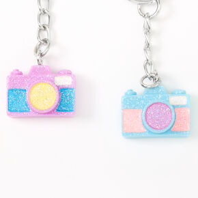 Porte-clés best friends appareil photo arc-en-ciel - Lot de 5,