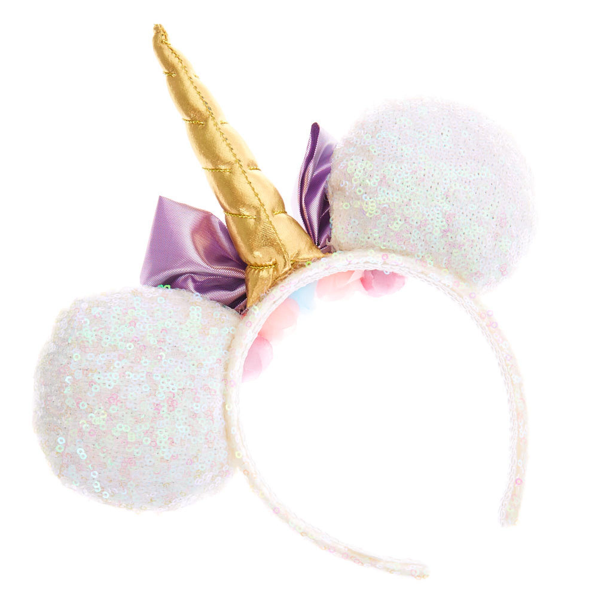 e3aa3c76dcc0 Disney® Sequin Unicorn Minnie Mouse Ear Headband - White | Claire's