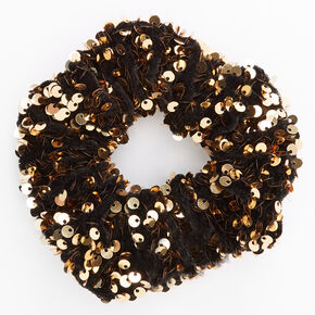 Medium Gold Sequin Scrunchie,