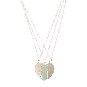 Best Friends Forever Broken Heart Necklaces,