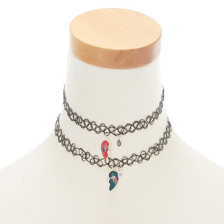 Unicorn Mood Heart Choker Necklaces - 2 Pack,