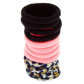 Claire's Club Leopard Print Hair Ties - 12 Pack,