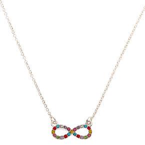Rainbow Infinity Pendant Necklace,