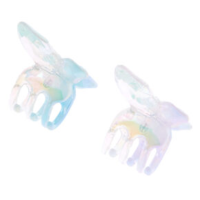 Iridescent Mini Butterfly Hair Claws - 2 Pack,