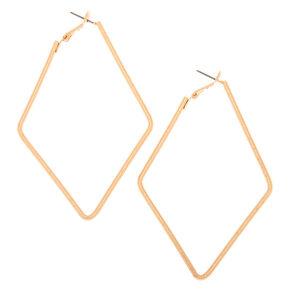 Gold 80MM Textured Diamond Hoop Earrings,