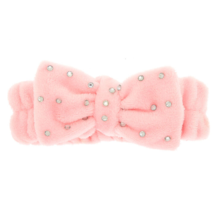 Makeup Bow Headwrap - Blush Pink,