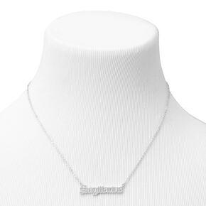 Silver Gothic Zodiac Pendant Necklace - Sagittarius,