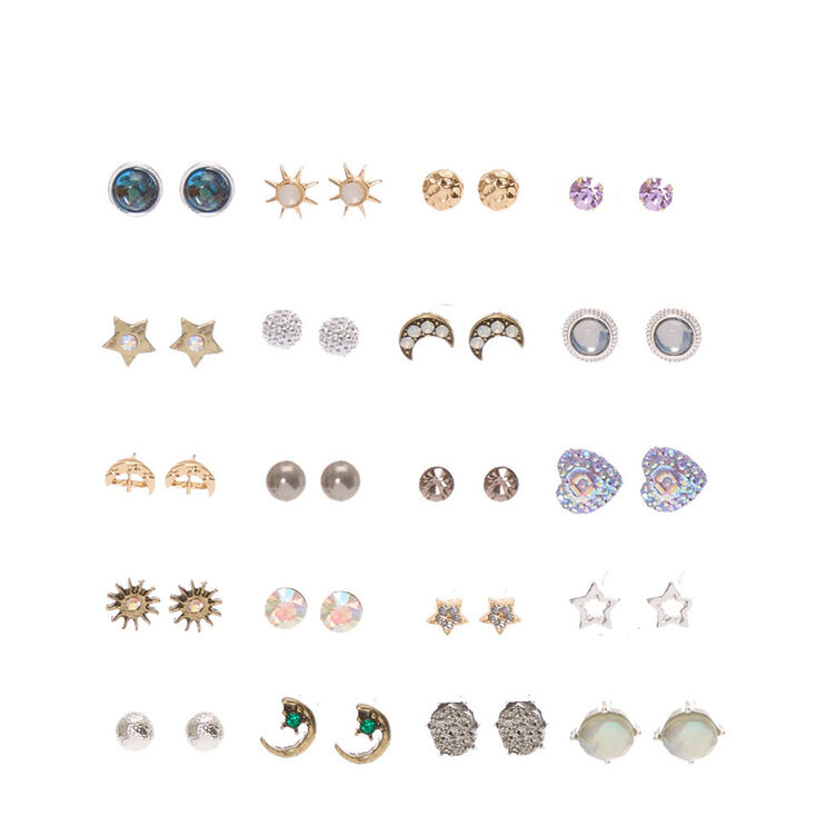Aliexpress.com : Buy ES195 Cute Earring Sets Super Value 6 Pairs Set Round Square Ball Alloy