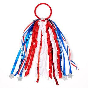 USA Red, White & Blue Ribbon Hair Tie,