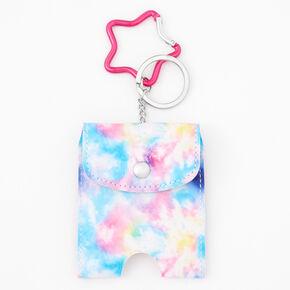 Tie Dye Hand Sanitiser Pouch Keychain,
