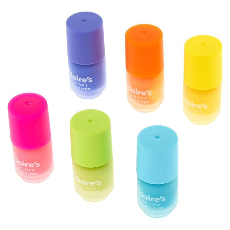 Mini Matte Neon Nail Polish - 6 Pack,