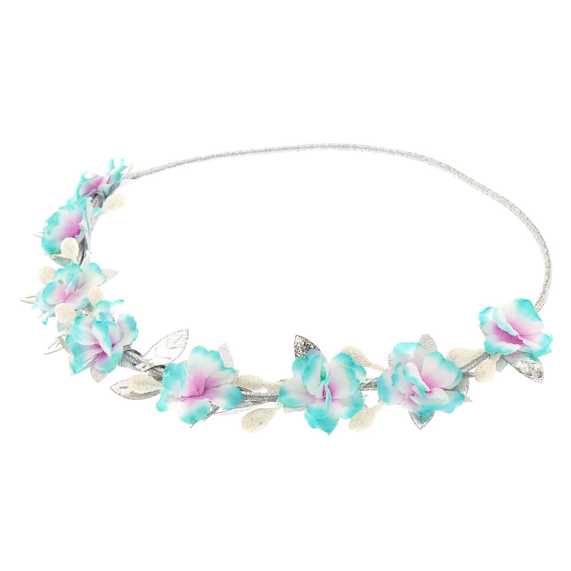 Mint silver flower crown headwrap claires us mint amp silver flower crown headwrap izmirmasajfo