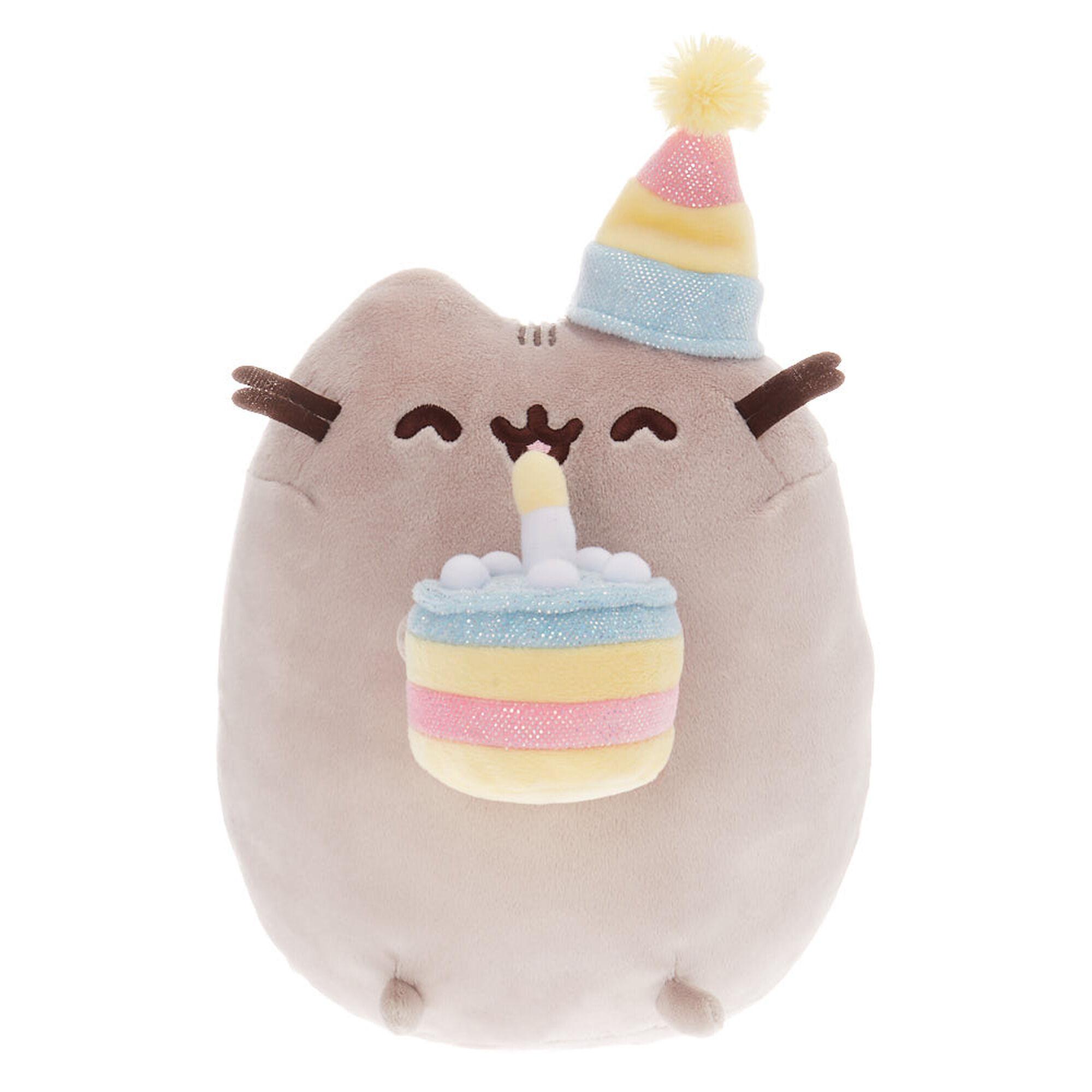Tremendous Pusheen Large Birthday Cake Plush Toy Grey Claires Funny Birthday Cards Online Drosicarndamsfinfo
