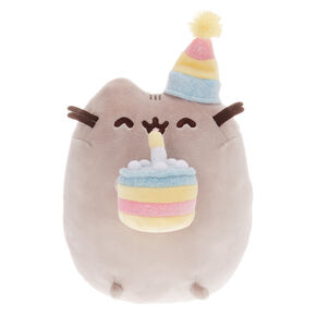 Peluche gâteau d'anniversaire de grande taille Pusheen® - Gris,