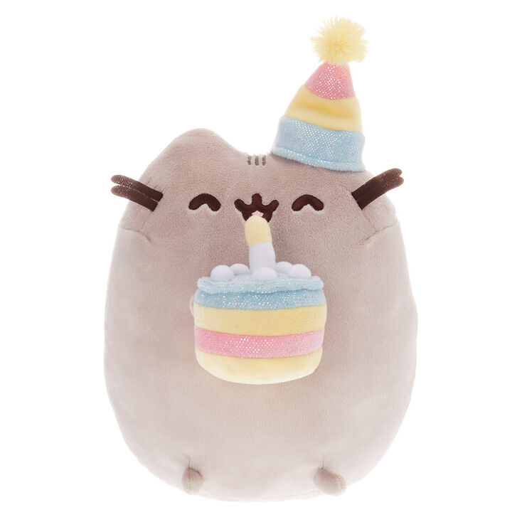 Magnificent Pusheen Large Birthday Cake Plush Toy Grey Claires Personalised Birthday Cards Veneteletsinfo