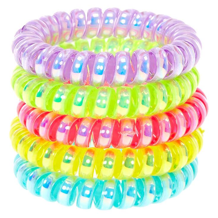 Claire's Club Neon Coil Bracelets - 5 Pack,