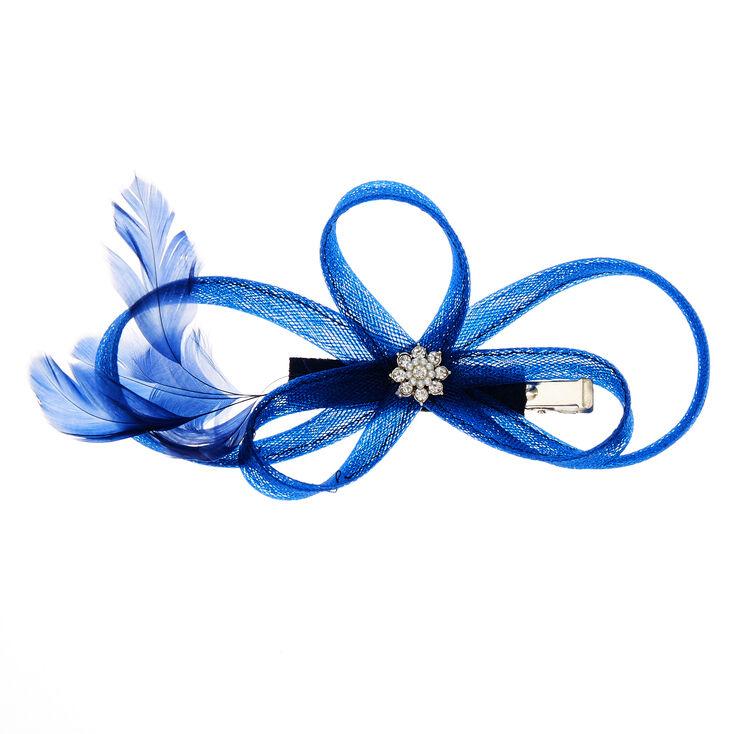 Bibi à plumes bleu marine,