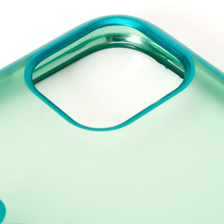 Mint Frosted Heart Phone Case - Fits iPhone 11,