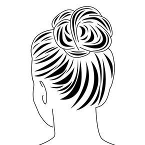 Straight Faux Hair Bobble - Dark Brown,