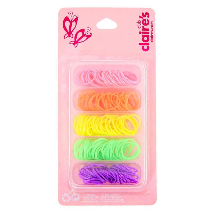 Claire's Club Neon Hair Ties,