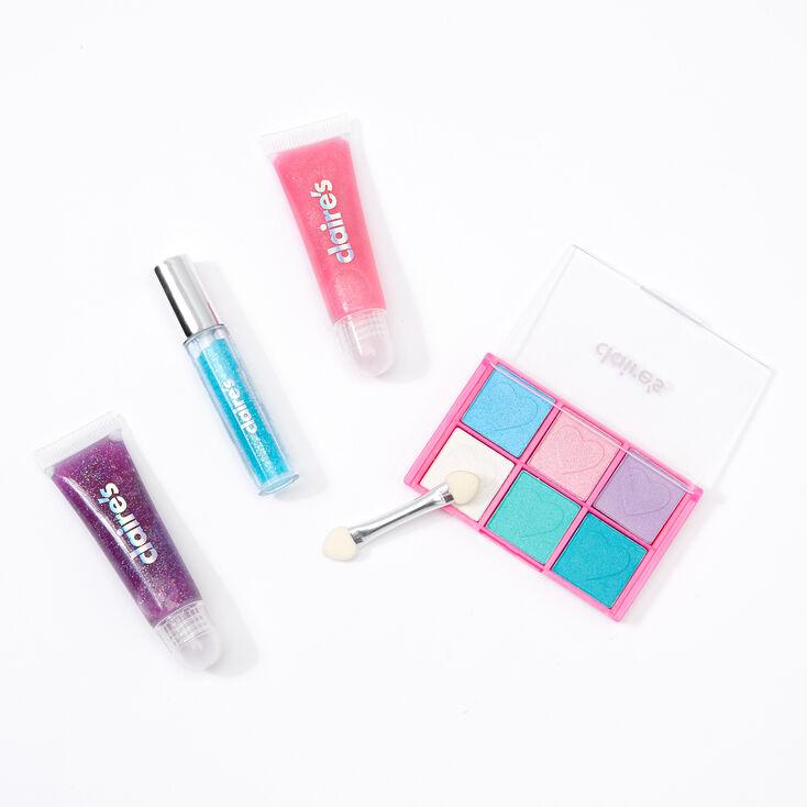Rainbow Tie Dye Bling Makeup Set - Purple,
