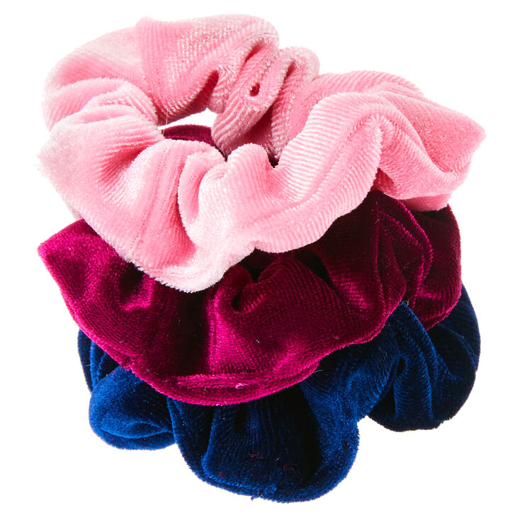 Claire's Club Small Berry Velvet Hair Scrunchies - 3 Pack,