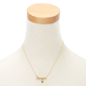 Gold Zodiac Pendant Necklace - Scorpio,