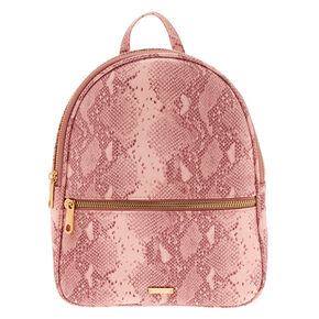 Snake Skin Small Backpack - Pink,