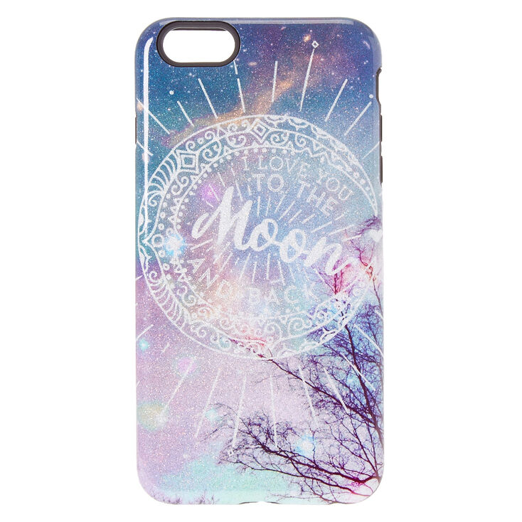 i love you to the moon back protective phone case claire s us