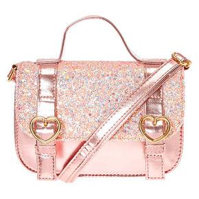 Claire s Club Pink Crossbody Bag - Pink a8d94a37a4e4