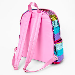 Rainbow Sequin Striped Backpack,
