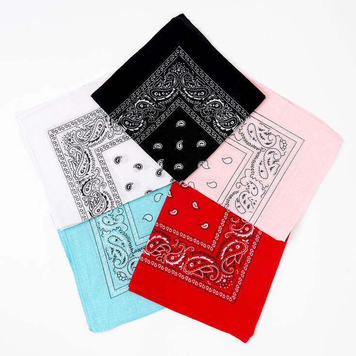 Claire's Club Mixed Paisley Bandana Headwraps - 5 Pack,