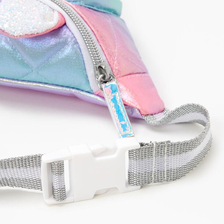Unicorn Iridescent Bum Pack - Pastel Rainbow,