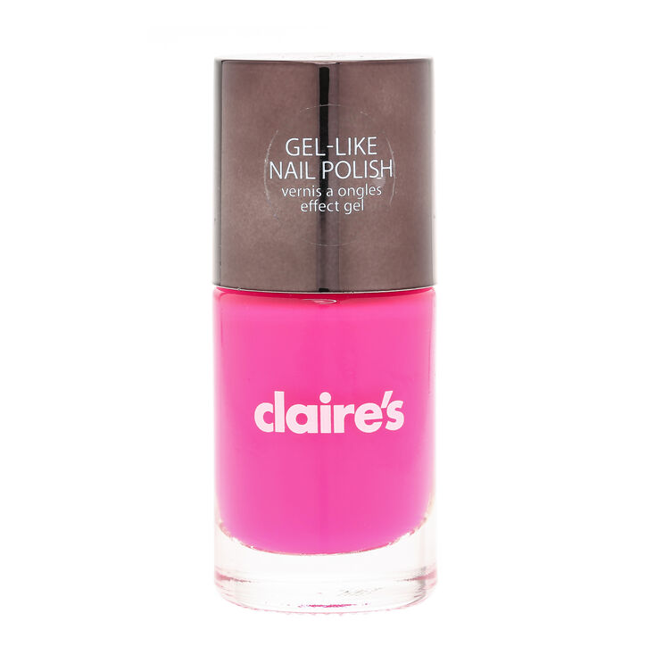 Neon Pink Gel Effect Nail Polish | Claire\'s