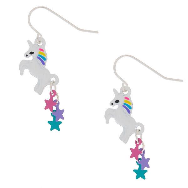 "Claire's - 1"" starry unicorn drop earrings - 1"