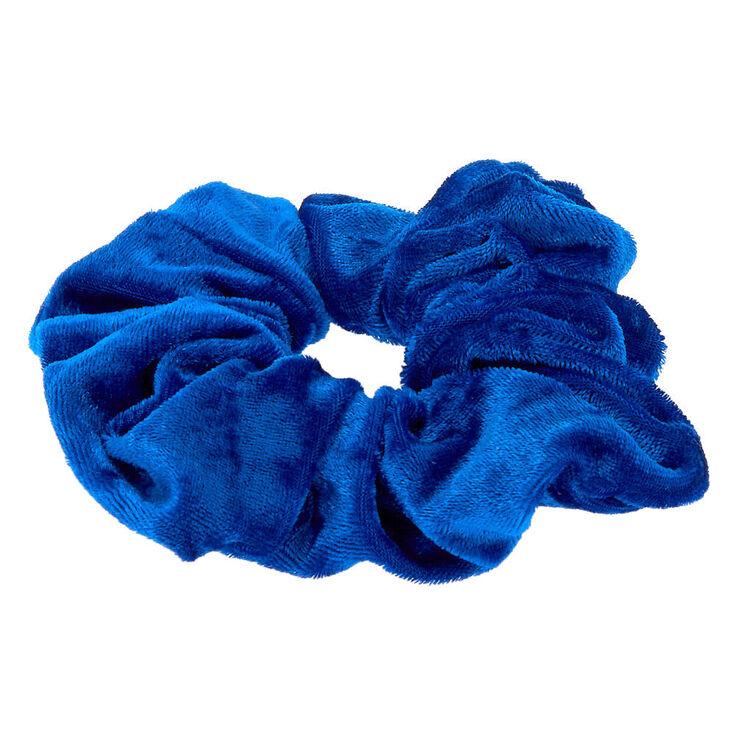 Medium Velvet Hair Scrunchie - Royal Blue,