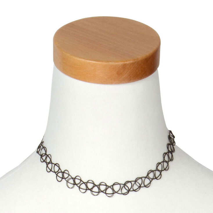 Black tattoo choker necklace claire 39 s for Black tattoo choker