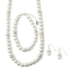 Pearl Jewelry Set - 3 Pack,
