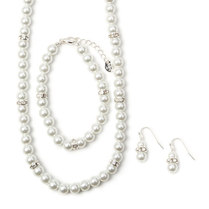 Pearl Jewelry Set 3 Pack