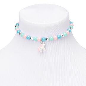 Claire's Club Pastel Beaded Unicorn Rainbow Jewelry Set - 2 Pack,