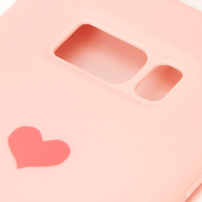 Pink Heart Phone Case - Fits Samsung Galaxy S8,